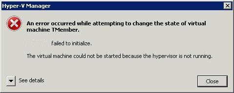 Hypervisorerror